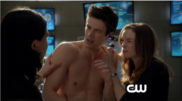 Gustin shirtless grant The Flash's