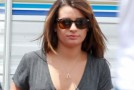 SONS OF ANARCHY : Lea Michele on the set