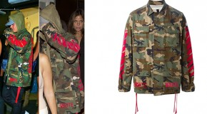 STYLE : Justin Bieber with a camo jacket