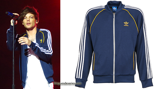 ONE DIRECTION : Louis Tomlinson with a blue Adidas jacket