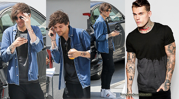 ONE DIRECTION : Louis Tomlinson in Religion tee Fringues