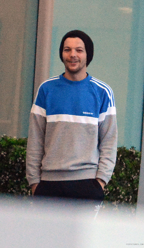 Louis Tomlinson Wearing A Sweater