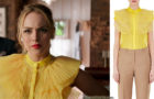 DYNASTY : a Silk Ruffled Organza Blouse for Fallon in s1ep17