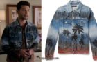 DYNASTY : Sammy Jo wearing a palm trees print jacket in s1ep17