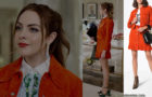 DYNASTY : orange outfit for Fallon in s2e04