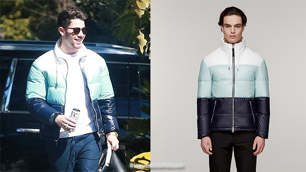 STYLE : Nick Jonas with a lightweight down jacket Fringues