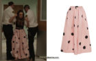 DYNASTY : polka-dot skirt for Fallon in s3e02