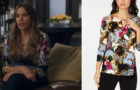 MODERN FAMILY : Gloria's baroque printed top in s11e06