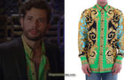 DYNASTY :  Green silk shirt for Sam in S3E06