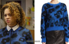 OCTOBER FACTION : Viv's leopard spot sweater in S1E01