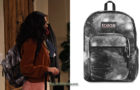 THE EXPANDING UNIVERSE OF ASHLEY GARCIA : Ashley's galaxy print backpack in S1E01