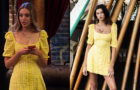 THE EXPANDING UNIVERSE OF ASHLEY GARCIA : Brooke's gingham dress in yellow and white