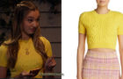THE EXPANDING UNIVERSE OF ASHLEY GARCIA : Brooke's yellow top in S1E02