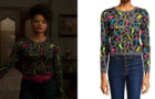DYNASTY : Vanessa's leopard sweater in S3E14